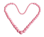Pink Necklace with Heart form Royalty Free Stock Photos