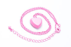 Heart on chain Royalty Free Stock Photos
