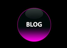 Pink Neon Button Blog Stock Image