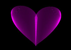 Pink neon heart Royalty Free Stock Image