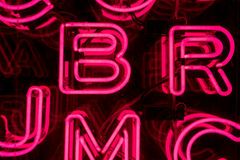 Pink Neon Letters (4) Royalty Free Stock Photos