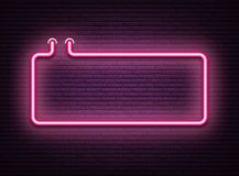 Free Pink Neon Luminous Signboard On Realistic Bricklaying Wall. Royalty Free Stock Photos - 121126388