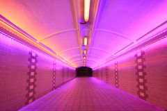 Pink Neon Tunnel. At Fullerton Area in Singapore Royalty Free Stock Photo