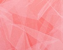 Pink net fabric over pink - wedding background etc Royalty Free Stock Photography