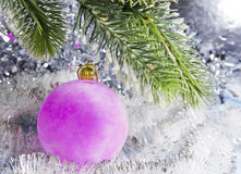 Pink New Year ball Royalty Free Stock Photos