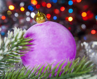 Pink New Year ball Royalty Free Stock Photography