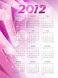 Pink new year calender Royalty Free Stock Photos