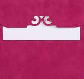 Pink note. Cover with a white piece of paper in the middle royalty free stock image