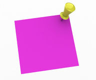 Pink note Royalty Free Stock Images