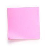 Pink note. Over white background royalty free stock image