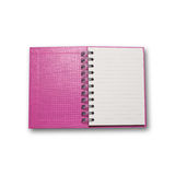 Pink note book isolated on white background Royalty Free Stock Photography