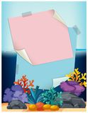 Pink Note Over Fish Tank. Illustration Royalty Free Stock Photos
