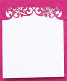 Pink note pad book Stock Image