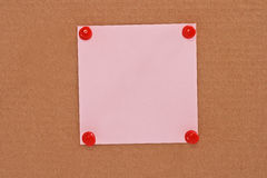 Pink note pape Stock Image