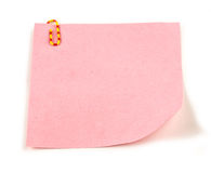 Pink Note paper Royalty Free Stock Photo