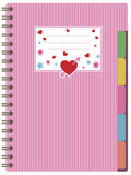 Pink notebook Royalty Free Stock Photos