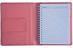 Pink notebook Royalty Free Stock Photography