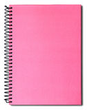 Pink notebook. Isolated on a white background Royalty Free Stock Photo