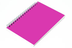Pink Notebook. On a white background Royalty Free Stock Image
