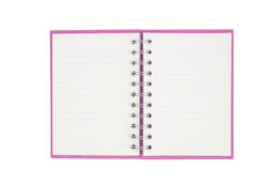 Pink notebook for background and Clipping part Royalty Free Stock Image