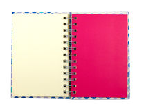 Pink notebook Royalty Free Stock Images