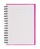 Pink notebook Stock Images