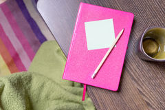 A Pink notebook Royalty Free Stock Photos