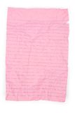 Pink notepaper Royalty Free Stock Image