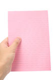 Pink notepaper Royalty Free Stock Photos
