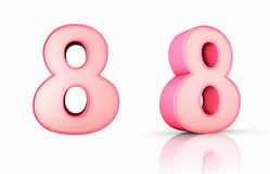 Pink Number Eight Royalty Free Stock Photography