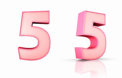Pink Number Five Stock Images