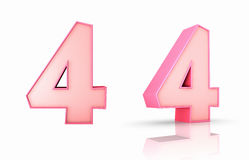 Pink Number Four Stock Photography