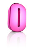 Pink Number 0 Stock Image