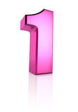 Pink Number 1 Stock Photo