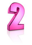 Pink Number 2 Royalty Free Stock Photography