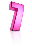 Pink Number 7 Stock Photography
