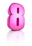 Pink Number 8 Stock Images