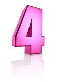 Pink Number 4 Royalty Free Stock Images