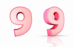 Pink Number Nine Royalty Free Stock Image