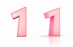 Pink Number One Stock Images