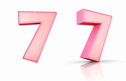 Pink Number Seven Royalty Free Stock Images