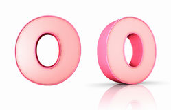 Pink Number Zero Royalty Free Stock Image