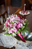 Pink nuptial bouquet Stock Photos