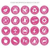 Nutrition label icon set vector vector illustration
