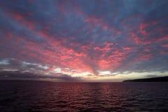 A beautiful ocean sunrise in Kangaroo Island , Australia. Pink Ocean sunrise vith  cloud in Kangaroo Island South Australia Stock Image