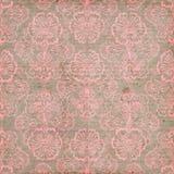 Pink och bakgrund för Brown Grungy tappningblomma Royaltyfri Fotografi