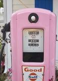 Pink `old fashion` gasoline pump Stock Photo