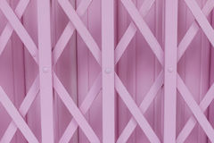 Pink old steel door Stock Images