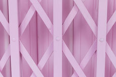 Pink old steel door Royalty Free Stock Photo