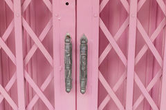 Pink old steel door Royalty Free Stock Photography